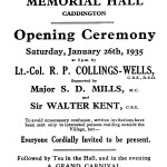 1935 Collings-Wells Hall Opening ad